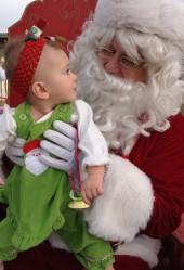 Her third time meeting Santa. No big deal :)